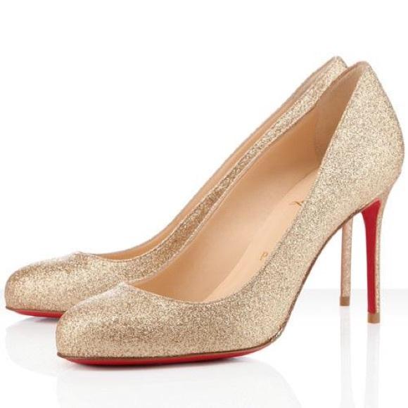 separation shoes f4f4c 489bc Christian Louboutin Fifi Glitter Pumps NWT
